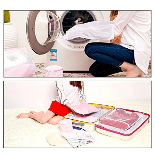 ZOTO Laundry Wash Bag, 6 Set Mesh Dedicates Bra Washing Bag with Zipper, Lingerie Garment Bag for Net Washer Dryer Washing Machine Protect Underwear,Hosiery,Sock,Baby Cloth,Travel Laundry Bag by ZOTO (Image #6)
