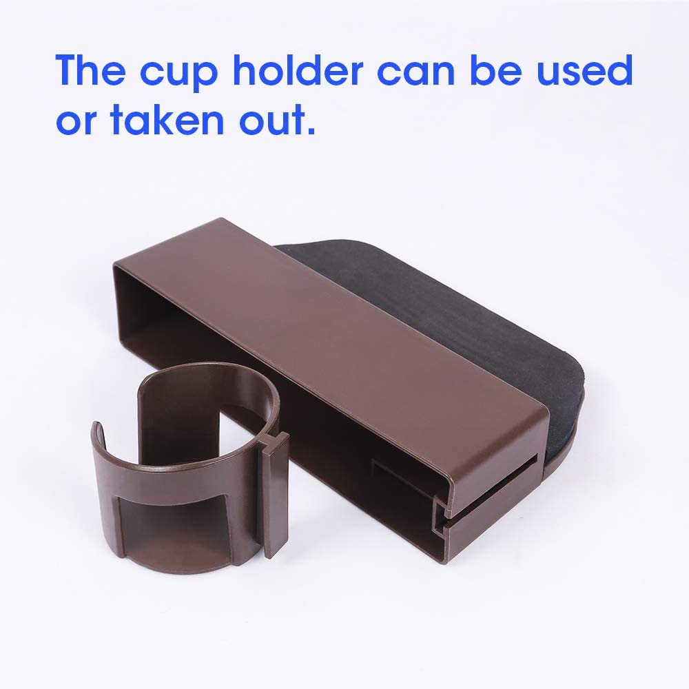 Cards Cup Holder Easy Mount Brown JIAKANUO Auto Car Seat Side Gap Catcher,Console Pocket Organizer,Car Seat Gap Filler