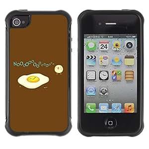 Hybrid Anti-Shock Defend Case for Apple iPhone 4 4S / Egg & Bird