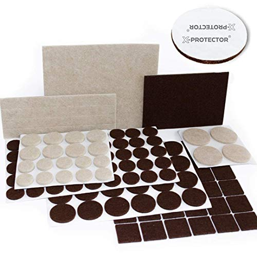 Cheap  X-PROTECTOR Premium TWO COLORS Pack Furniture Pads 133 piece! Felt Pads Furniture..