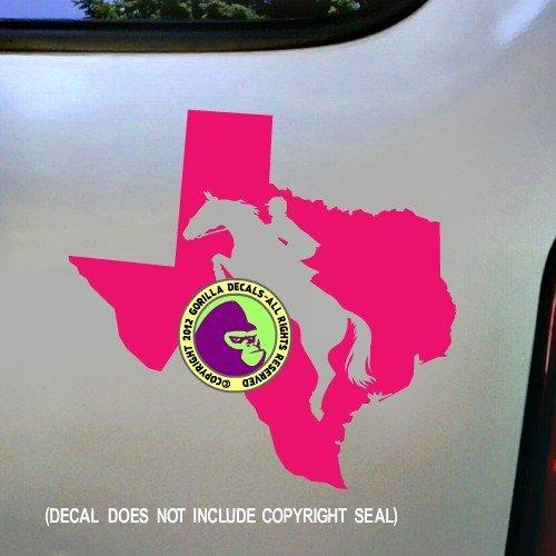 STATE TEXAS Hunter Jumper Vinyl Decal Sticker E