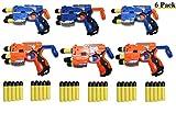 Toys+ Big Bag of Dart Guns! 6 Pack Mini Foam Dart Blasters Birthday Party favors (6Pack)