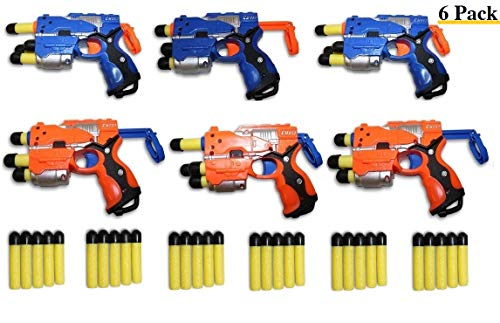 Toys+ Big Bag of Dart Guns! 6 Pack Mini Foam Dart Blasters Birthday Party favors (6Pack) by Toys+
