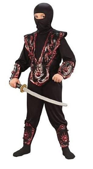 Amazon.com: Ninja Warrior Child Costume Red - Large: Clothing