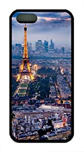 eiffel tower and paris Custom iPhone 5s/5 Case Cover TPU Black