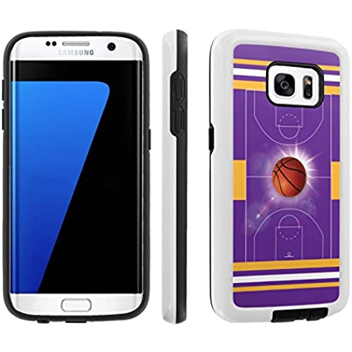 [Galaxy S7] [5.1 Screen] Armor Case [Skinguardz] [White/Black] Shock Absorbent Hybrid - [BasketBall Purple] for Samsung Galaxy S7 / GS7 Sales