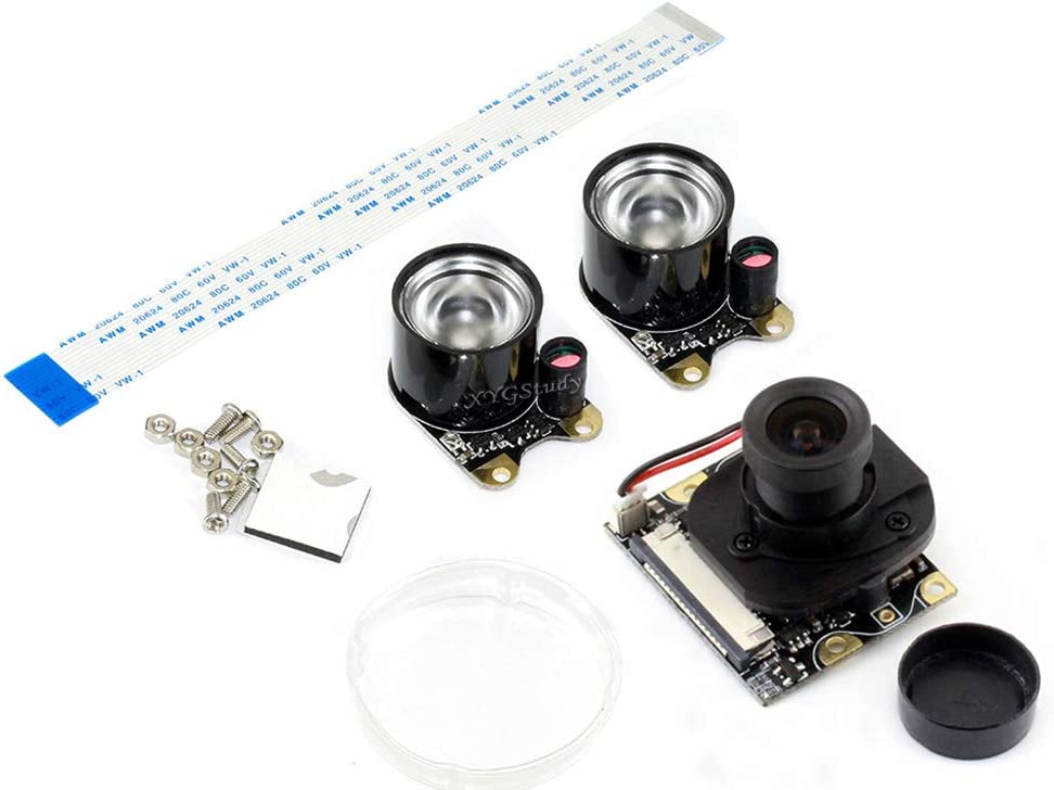 8 Megapixels 120 Degree FOV IMX219 Sensor Resolution 3280 /× 2464 8MP Suits for AI Projects XYGStudy Jetson Nano Developer Kit IMX219-120 Camera Module