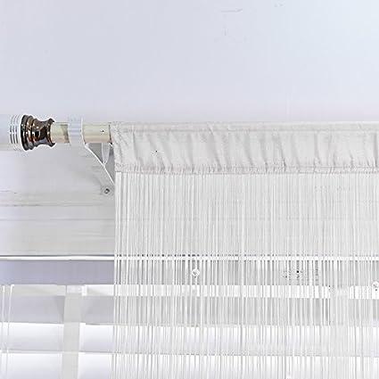 HSYLYM Poliestere Tenda con Frange in Perline 244x229cm Bianca da Usare Come divisore o Come Decorazione per la casa