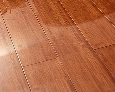 Jingtai 10.7 Sq. ft High Gloss Merbau-colored Bamboo Flooring
