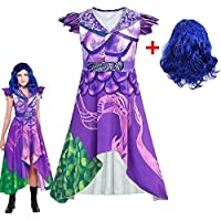 Ardorlove Descendants 3 Evie Cosplay Dress Mal Costume Kids Halloween Carnival Costume for Girls Gift (Color : Dress…