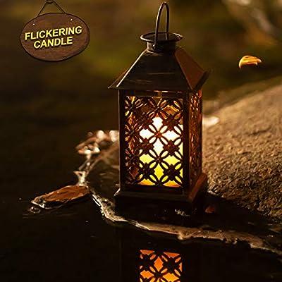 Lámpara solar exterior de bronce trébol de 4 hojas ᅳ Lámpara solar ...