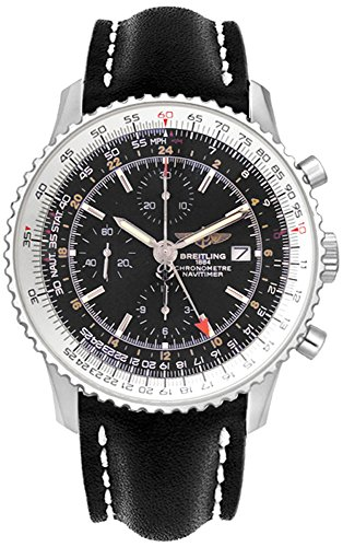 Breitling Men's A2432212/B726BKLT Black Dial Navitimer World Watch