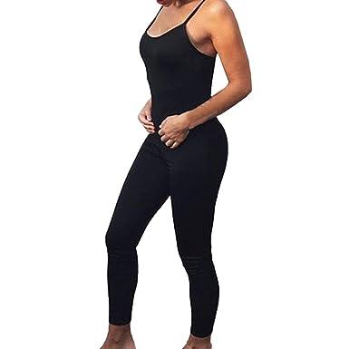 Mujer Deportivo Jumpsuit Sexy Slim Fit Mono de Yoga Sin ...