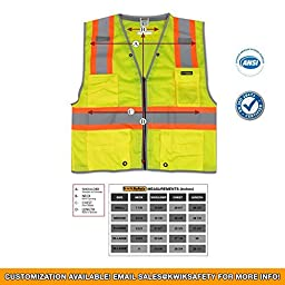 KwikSafety iPocket Safety Vest | Landscaping Construction Motorcycle Emergency Airport Security Guard Equipment | Customizable Reflective High Visibility Fall Protection for Men & Women | Premium | SM