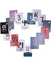 Tarjetas adhesivas conmemorativas para bebé y mamá, juego de 30 tarjetas de fotos, para capturar el primer año de tu bebé en semanas, meses y momentos memorables (texto en inglés)