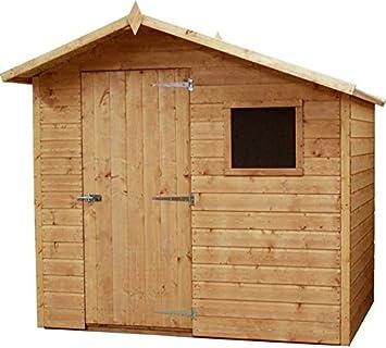 7 x 7 la lengua y Groove de madera Apex Garden cobertizo con 1 ventana y puerta: Amazon.es: Jardín