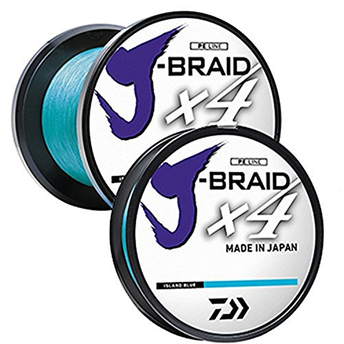 - Daiwa JB4U30-300IB J-Braid X4 300 yd Spool 30 lb Test Fishing Line, Island Blue