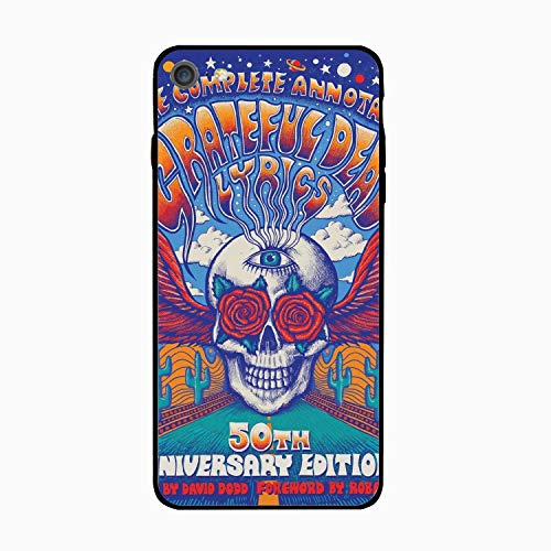 iPhone 6S Case/iPhone 6 Case, Complete Annotated Grateful Dead Lyrics Printed Slim Case with TPU Bumper Protective Case Cover Compatible for iPhone 6/iPhone 6S ()