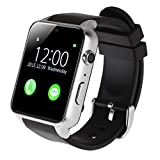 AGPTEK GT88 Smart Watch, Bluetooth 4.0 Connectivity Sports Activity Tracker with Heart Rate Monitor Magnetic Charging Health Exercise Fitness Tracker for Android/Apple iOS (Silver)