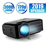 Projector, ABOX A2 LED Movie Video Projector with Full HD Native 720p, 100 ANSI Lumen, 180' Big Screen, Hifi Speaker, Support 1080p with HDMI/USB/SD Card/VGA/AV Ports For Home Theater/Laptop/TV/Phones