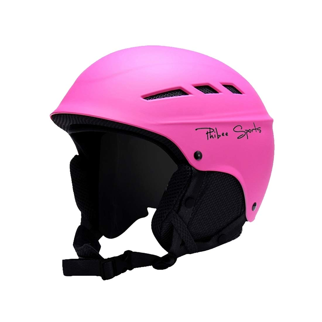 VAXT Fit for 56-62cm, Sizing: L, Exclusive and Twofold Plate Skiing Professional Protective Helmet 8 Air Vents PC Shell Adjustable Buckle Parent-Child Protective Helmet