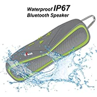 8Gtech Portable Sport Bluetooth Speaker With 6W Audio Output and 2 Subwoofers, IP66 Waterproof & Dustproof, Shockproof, 33ft Bluetooth Range, 8H Playtime, Built-in Mic, USB Charging Port