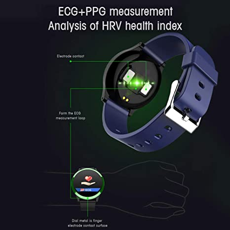 Amazon.com: TONGTONG ECG PPG Smart Watch with Blood Pressure ...