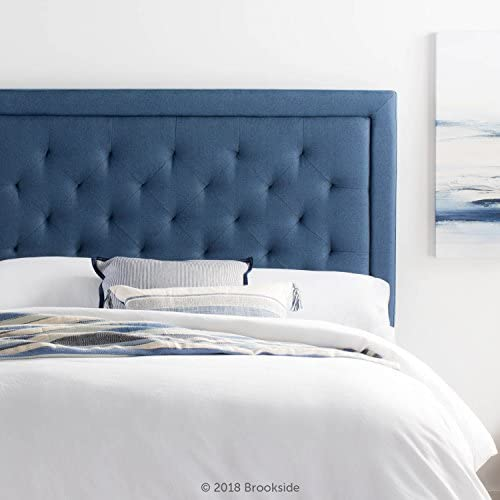 Brookside Upholstered Headboard with Diamond Tufting – King California King – Navy