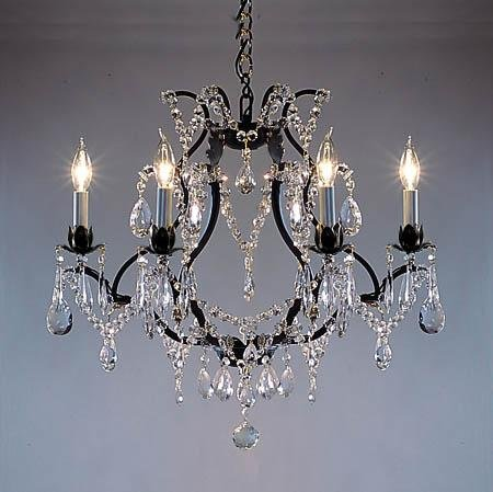 Wrought Iron Crystal Chandelier Chandeliers H19 Quot X W20