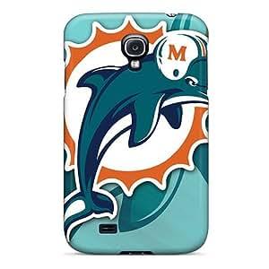 LisaSwinburnson Samsung Galaxy S4 Excellent Cell-phone Hard Covers Customized Realistic Miami Dolphins Pictures [UMm575jgQA] WANGJING JINDA