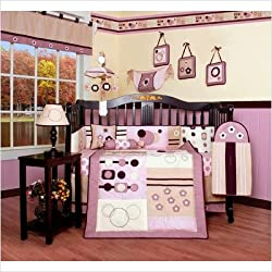 GEENNY Boutique Girl's Crib Bedding Set, Baby Girl Artist, 13 Piece