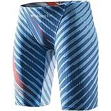 MY KILOMETRE Jammer Swimsuit Mens Solid Swim Jammers Endurance Long Racing Training Swimsuit Blue