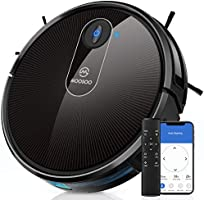 MOOSOO Robot Vacuum, Wi-Fi Connectivity, 120 Min Runtime Self-Charging Robotic Vacuum Cleaner, Works with Alexa & Google...