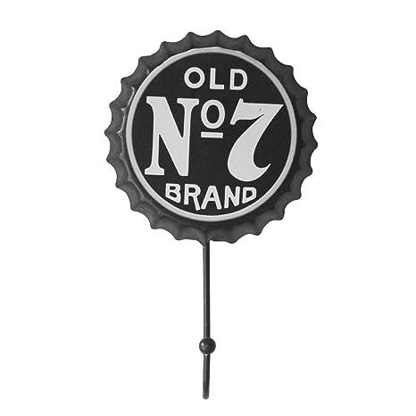 TOOGOO Nueva Retro Cerveza Creativa Cubierta Gancho OLD No7 BRAND Personalidad Gancho Caracter Gancho Traje de