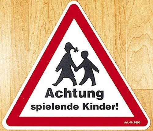 Schild Warnschild Achtung Spielende Kinder 308890 Gr 43x43cm ca