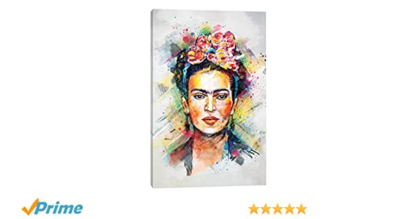 Amazon.com: iCanvasART TRC28-1PC3-26x18 Icanvas Frida Kahlo Print by ...
