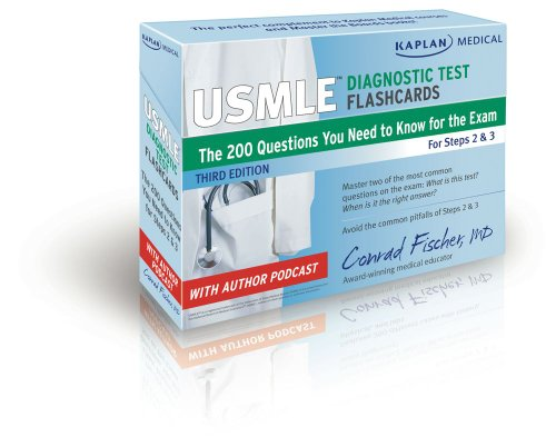 Kaplan Medical USMLE Diagnostic Test Flashcards: The 200 Diagnostic Test Questions You Need to Know for the Exam for Steps 2 & 3 (USMLE Prep)