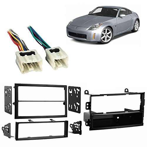 Fits Nissan 350Z 03-05 Single/Double DIN Harness Radio Install Dash Kit ()