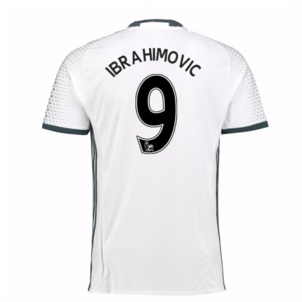 2016-17 Man Utd Third Football Soccer T-Shirt Trikot (Zlatan Ibrahimovic 9) - Kids