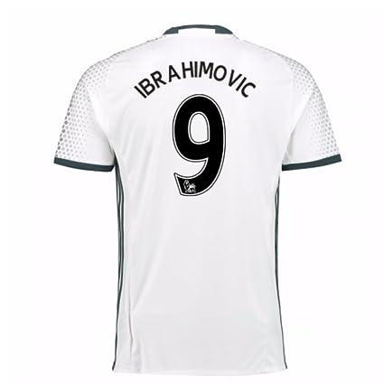 release date 73d1d 1ca3c Amazon.com : 2016-17 Man Utd Third Football Soccer T-Shirt ...