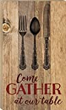 Come Gather at Our Table 24 x 14 Wood Boxed Pallet Wall Art Sign Plaque For Sale