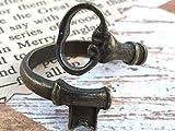 Skeleton Key Ring Antique Bronze Vintage Adjustable Jewelry Wraparound Spoon Ring