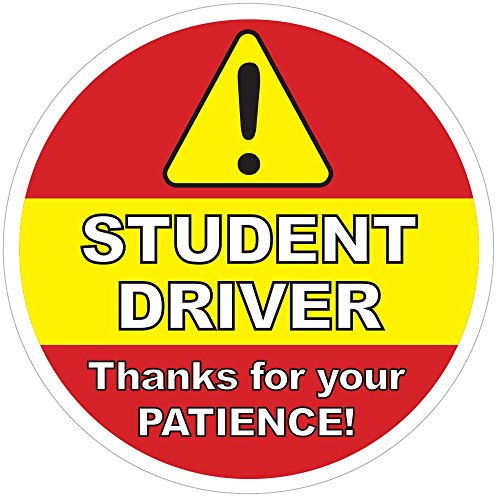 Student Driver Sign   Inside Car Window Static Cling Decal   5  X 5    Easy To Remove And Reposition   Wont Fall Off