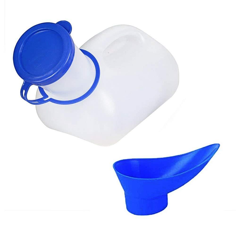 Tragbar Notfall Urinal Wiederverwendbare Schrumpfbare Flasche Pers/önliche Mobile Toilette Tragbare Mini Unisex mit Sichere Kappe f/ür Outdoor Camping Auto Camping Kinder Erwachsene 1000 ML Jungs