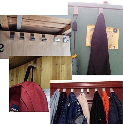 Tsuen 12 Pack Over The Door Hooks Z Shaped Hooks Hangers, Heavy Duty Metal Hanging Hooks Hangers Clothes Storage Rack for Kitchen, Bathroom, Bedroom, Work Shop, Garden and Office (3 x 4.5 x 6cm) by Tsuen (Image #4)