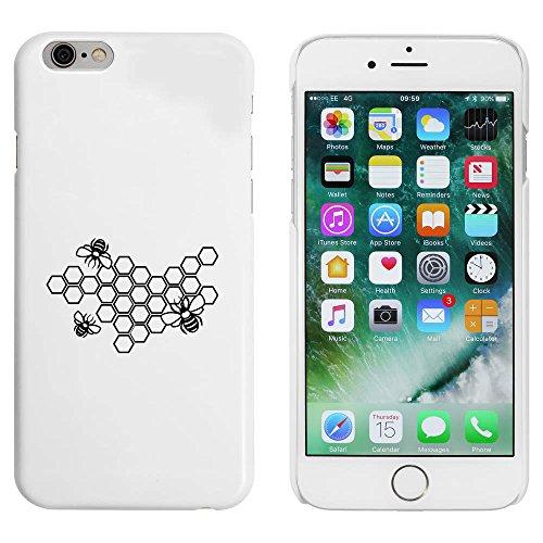 Blanc 'Abeilles en Nid d'Abeille' étui / housse pour iPhone 6 & 6s (MC00086281)