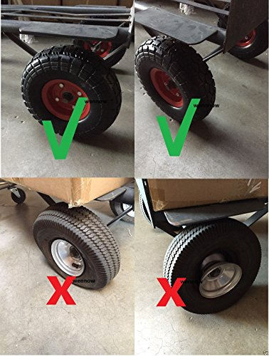 """Wennow Tubless Flat Free 10"""" Tire Wheel for Hand Truck Tire"""