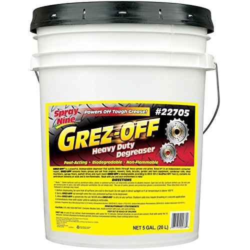 Spray Nine 22705 Grez-Off Heavy Duty Degreaser – 5 Gallon