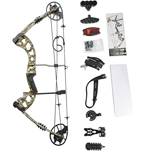 MILAEM Compound Bow Package 30-70 lbs 23.5-30.5 inch Archery Hunting Equipment with Max Speed 320fps, right handed