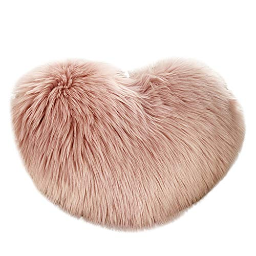 UROSA Heart Shaped Throw Pillow Case Cushion Plush Pillows Gift Home Sofa Decoration40 x 50cm